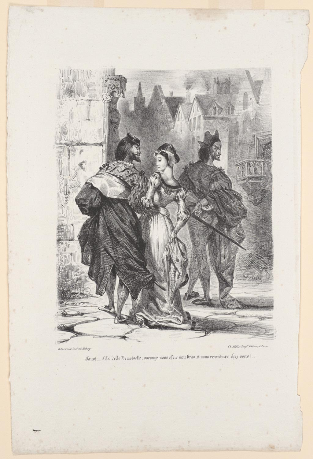 Faust Attempting to Seduce Marguerite