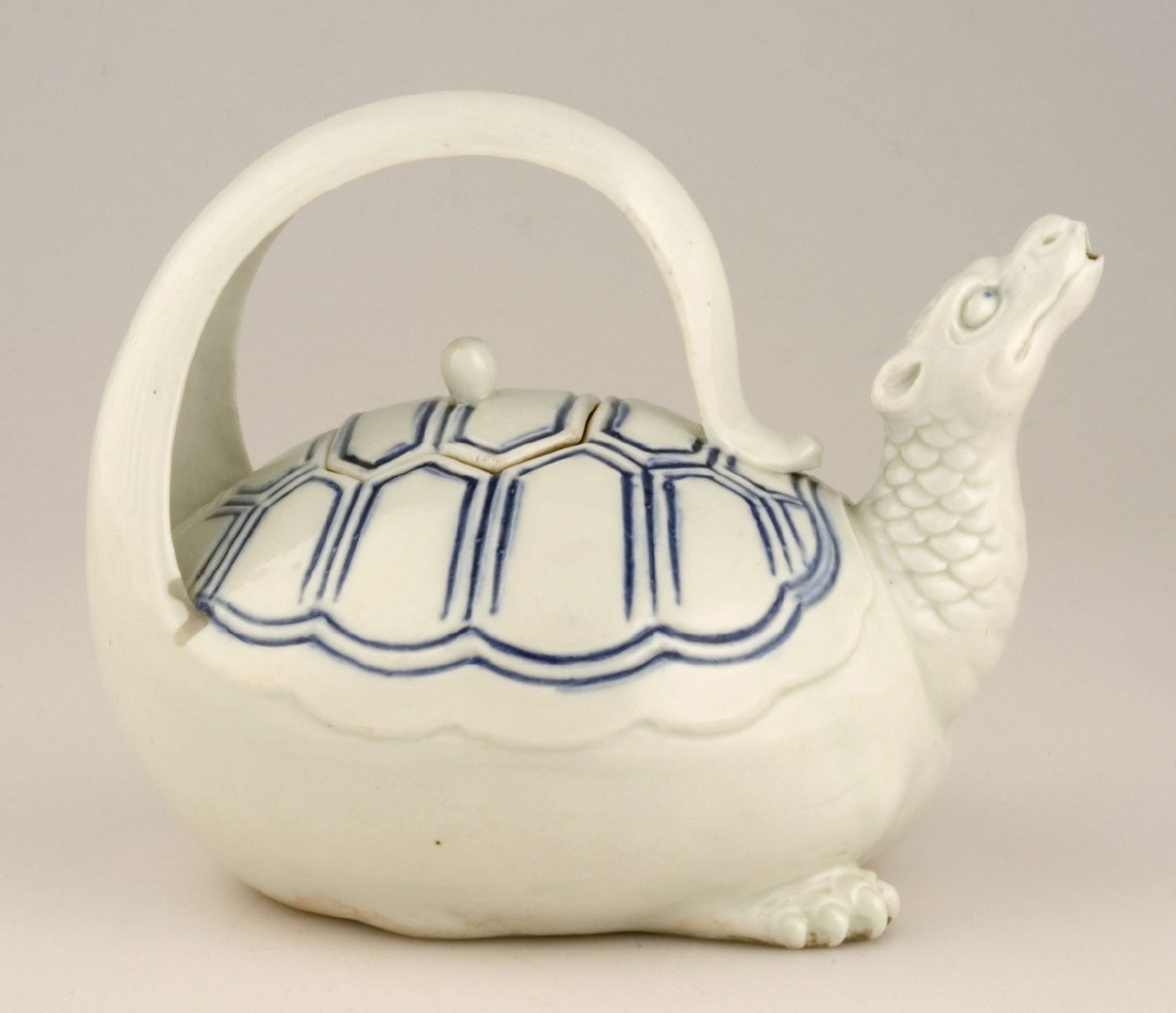 Covered Wine Pot in the Form of a Turtle