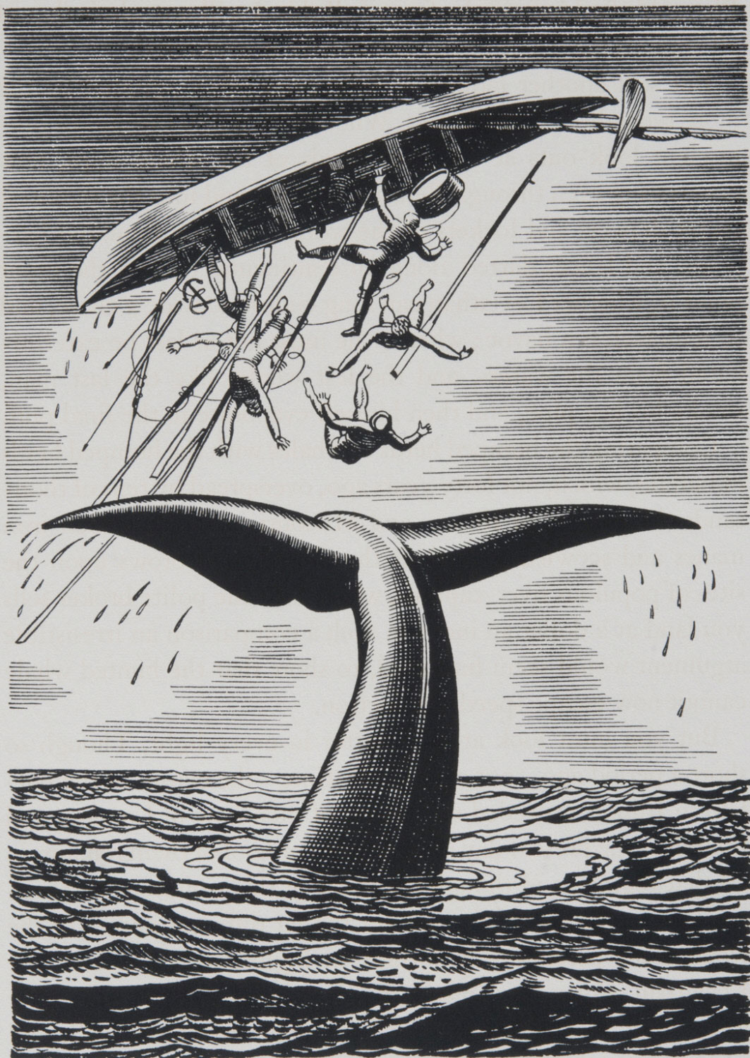 Illustration from Moby Dick: or, The Whale, by Herman Melville, Volume 3 (page 117)