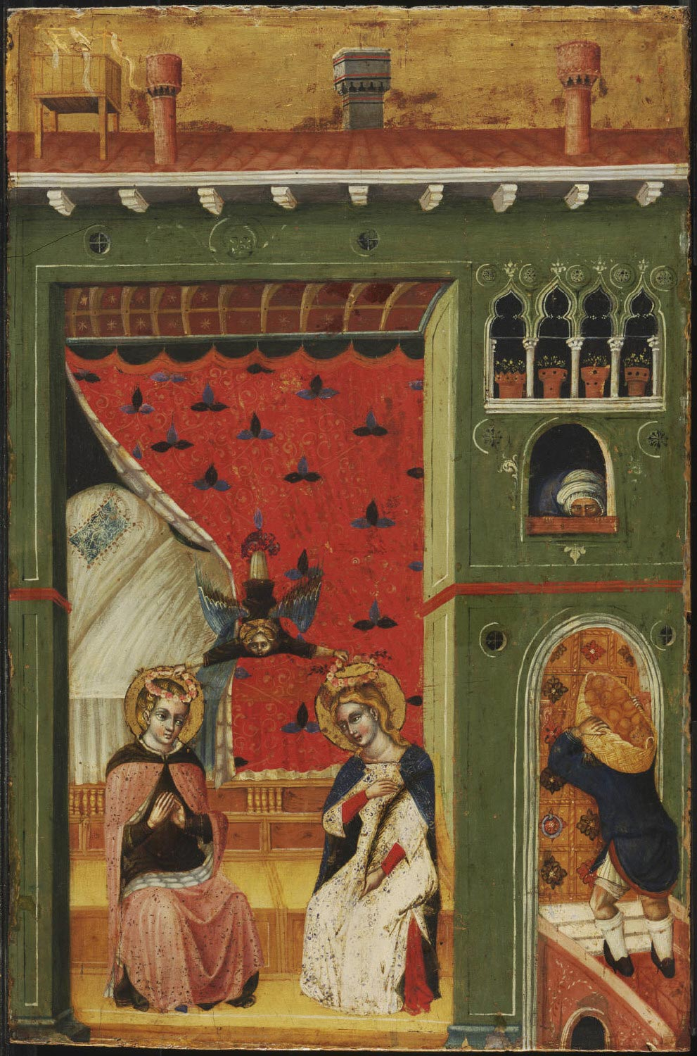 Saint Cecilia of Rome and Her Husband, Valerian, Being Crowned by an Angel