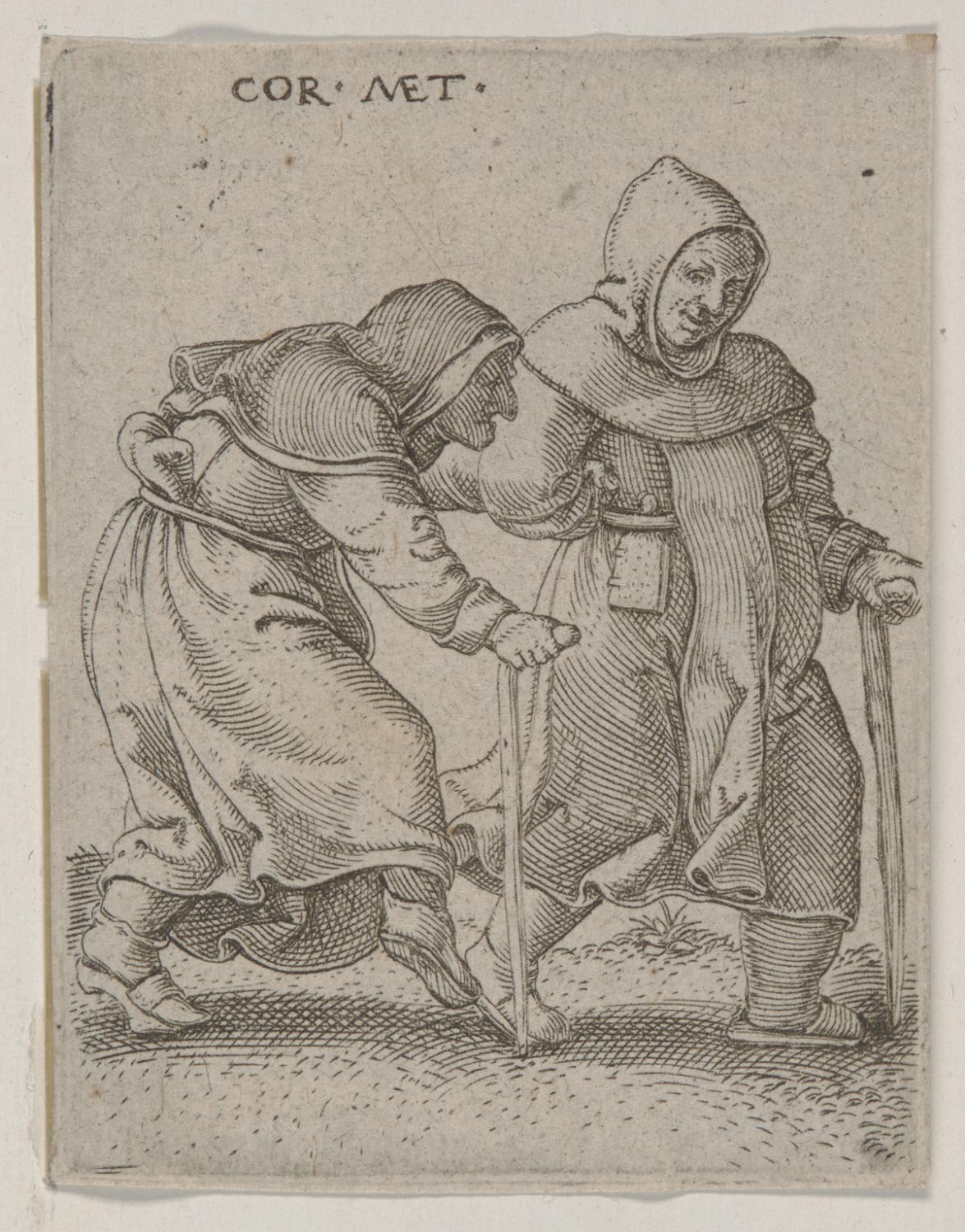 A  Monk Dancing with a Nun