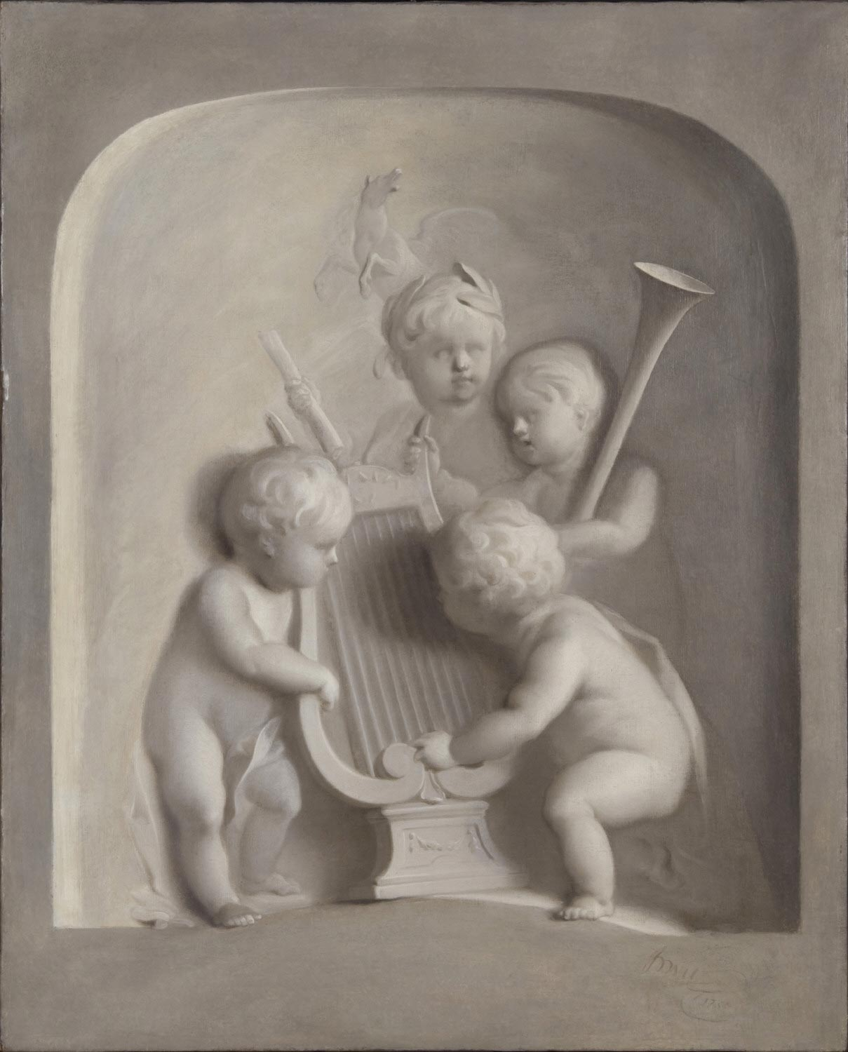 Putti with Musical Instruments