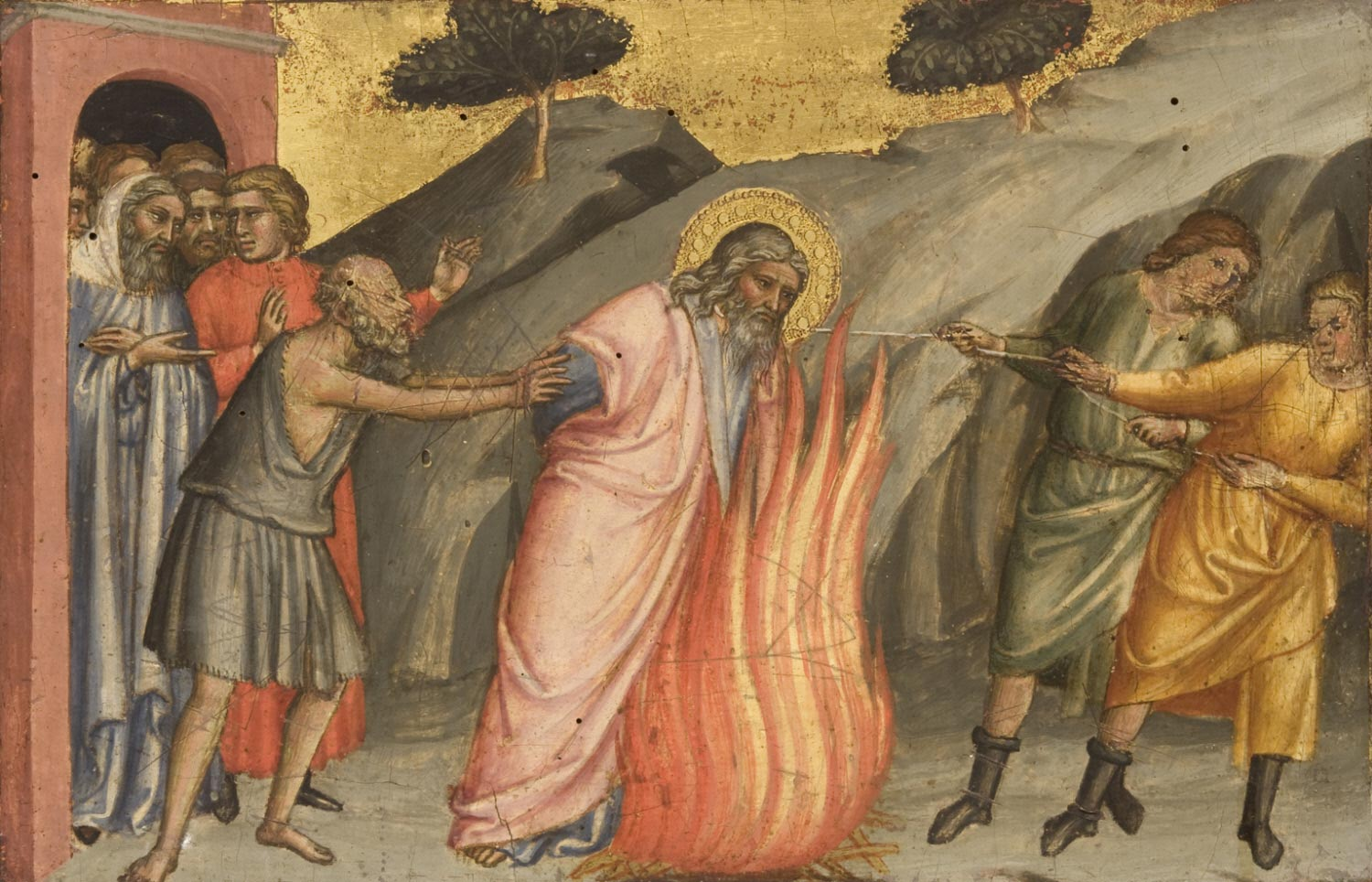 Saint Barnabas Being Brought to the Stake