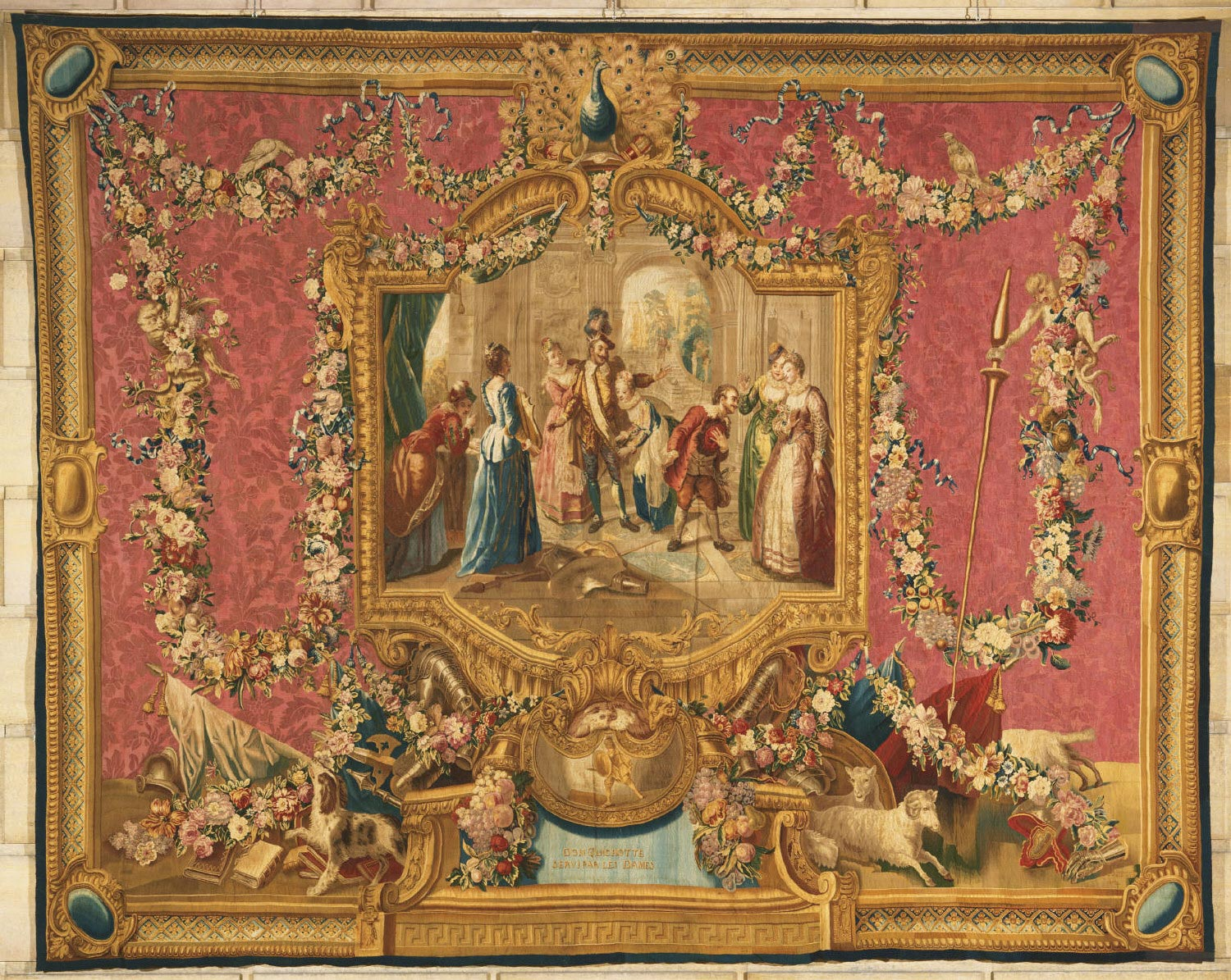 Tapestry showing Don Quixote Served by the Ladies