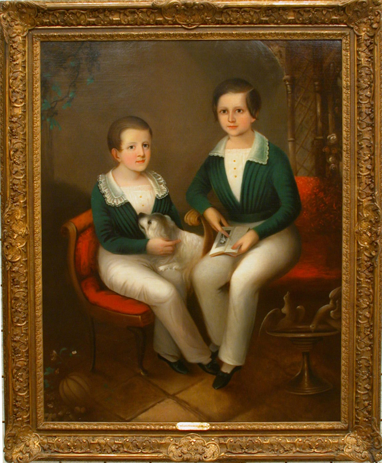 Portrait of Edwin Jackson Haas and His Brother