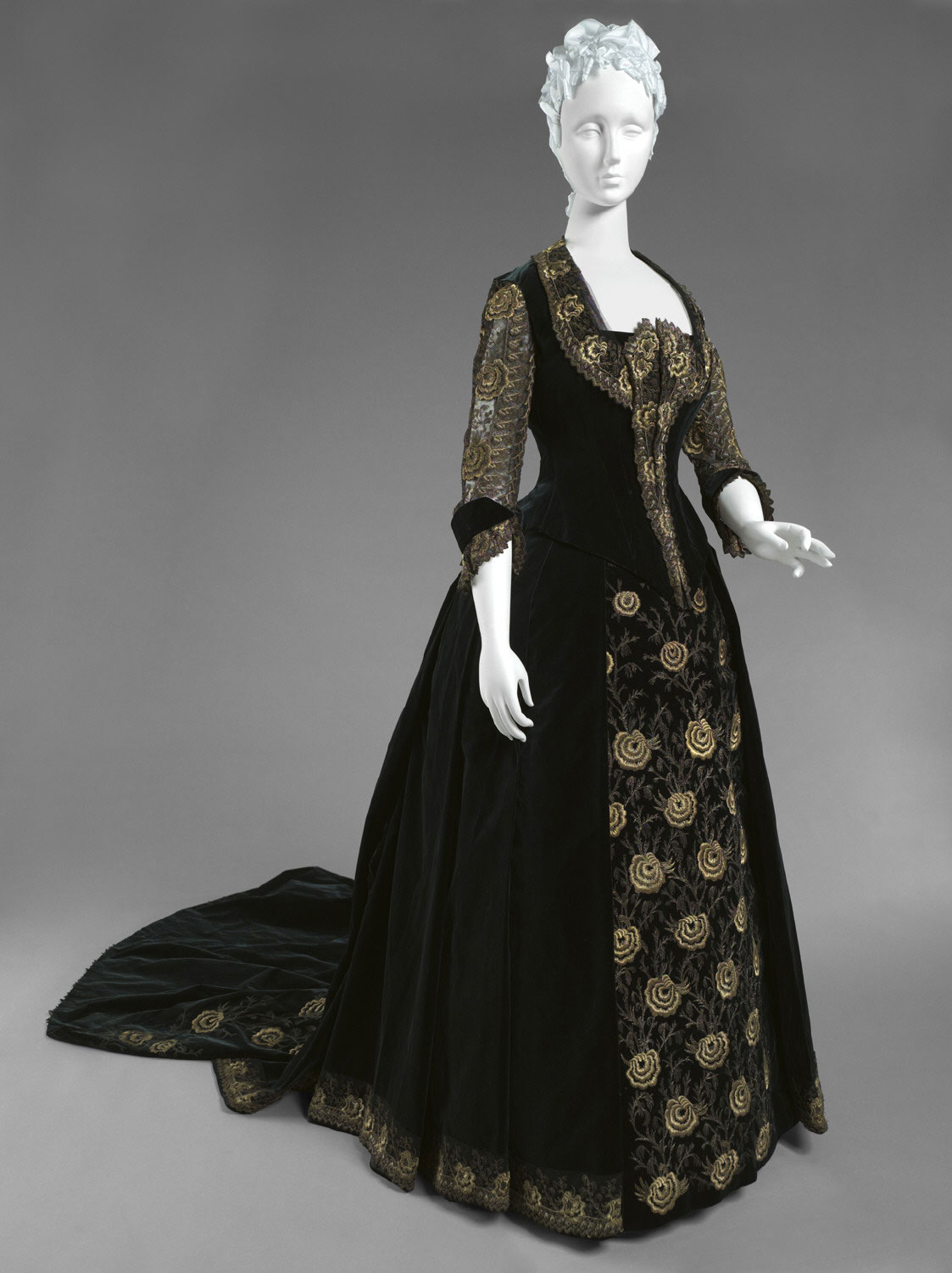 Woman's Dress with Dinner and Evening Bodices