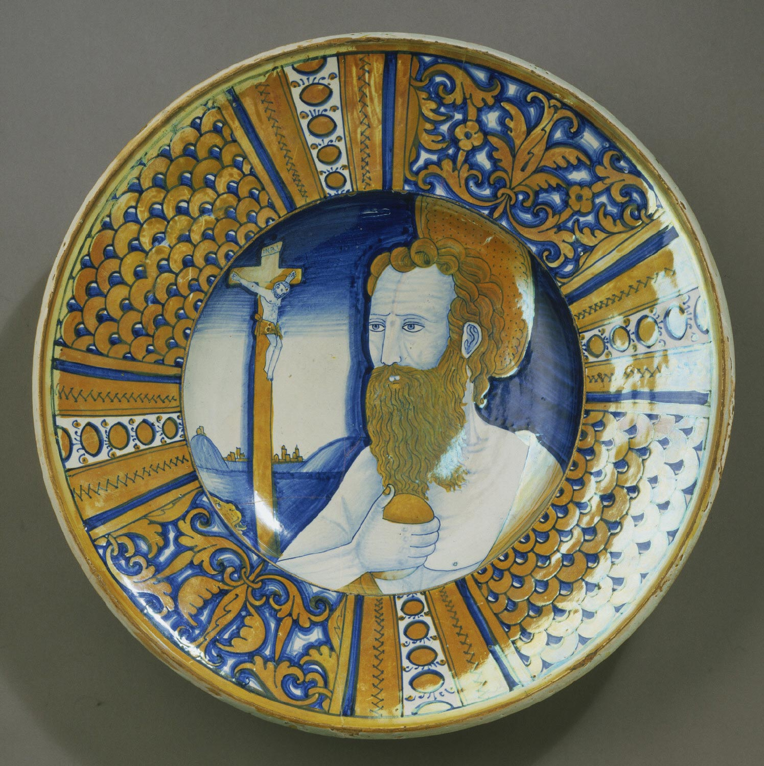 Dish with the Penitent Saint Jerome