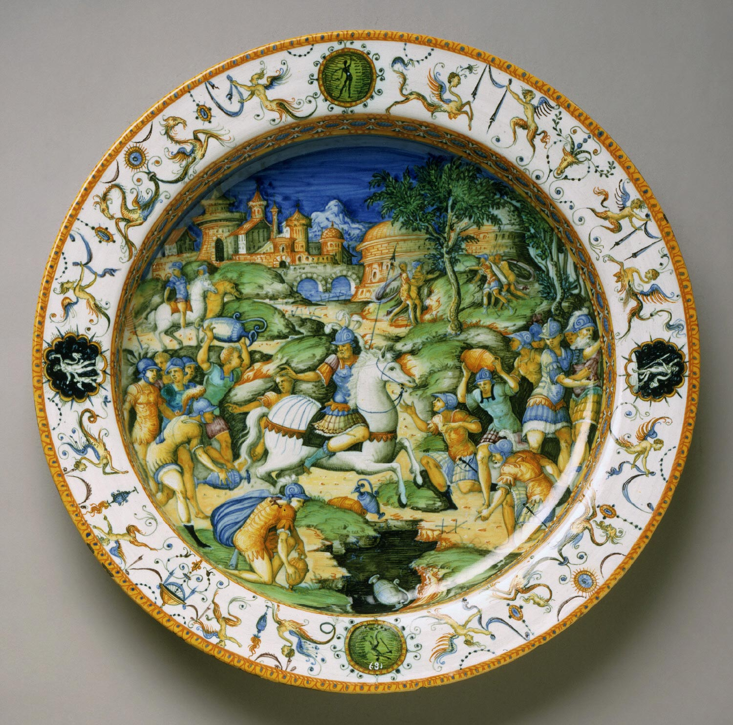 Plate with the Sacrifice of Marcus Curtius