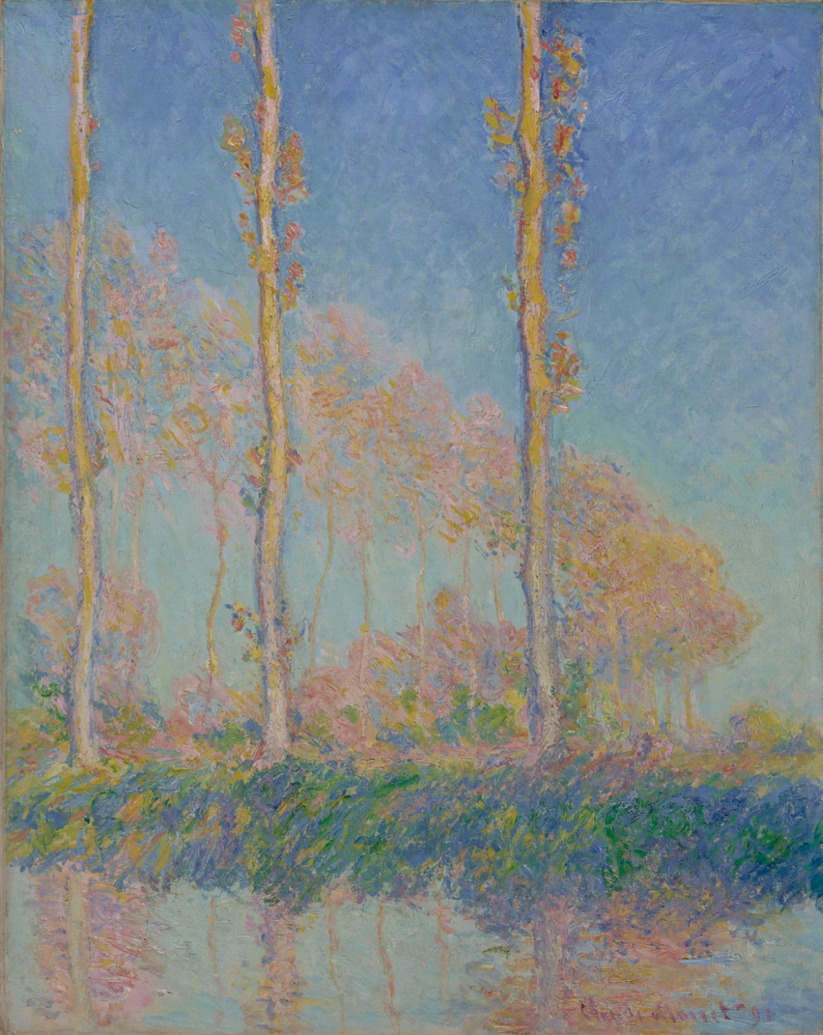 Poplars, Three Trees in Autumn