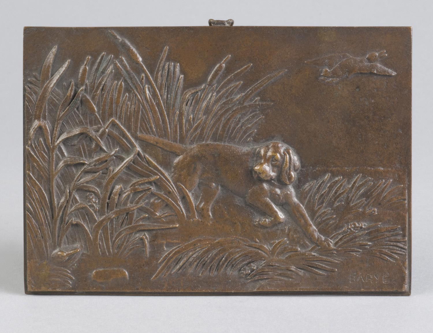 Bas-Relief: Pointer and Ducks
