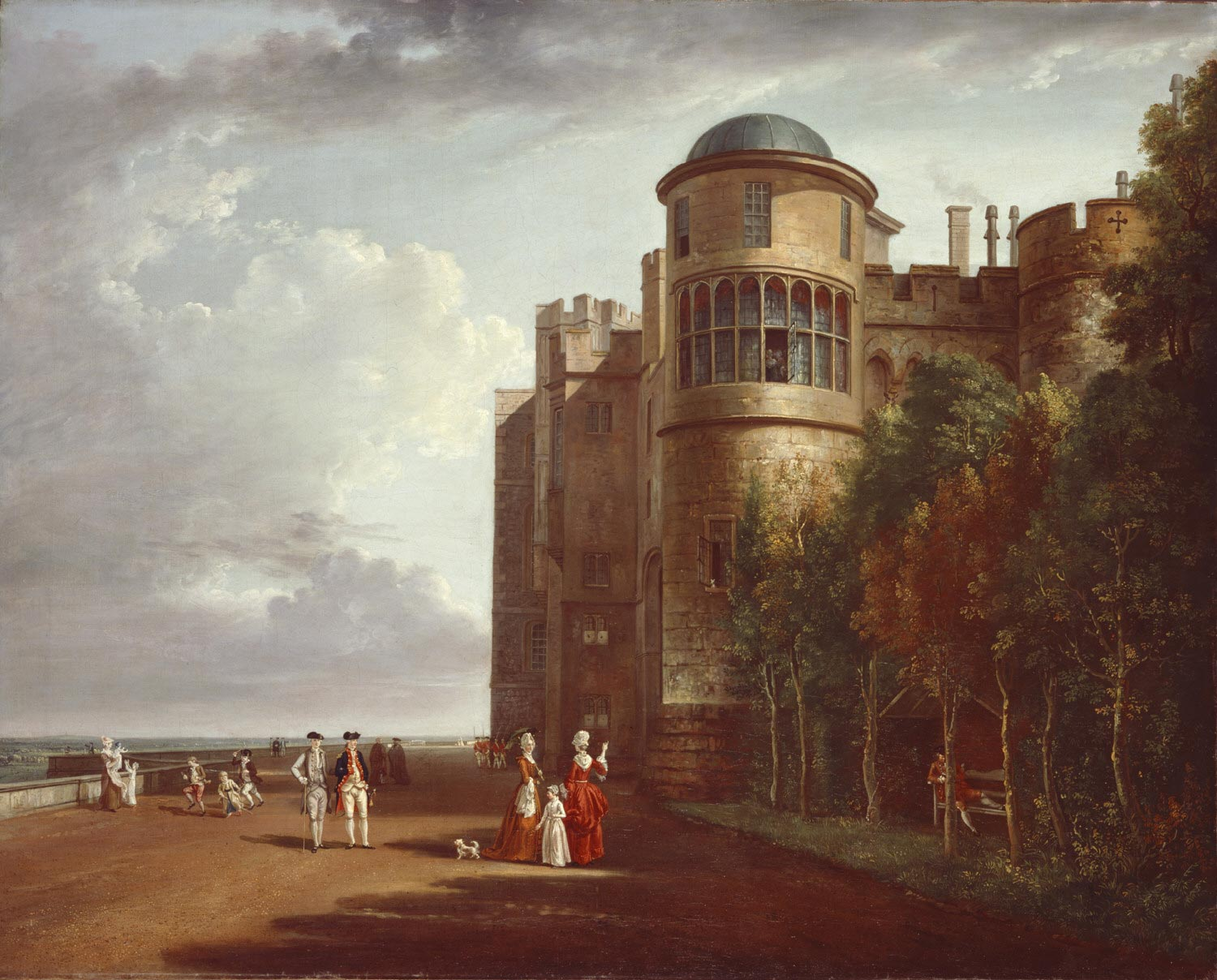 The North Terrace at Windsor Castle, Looking East