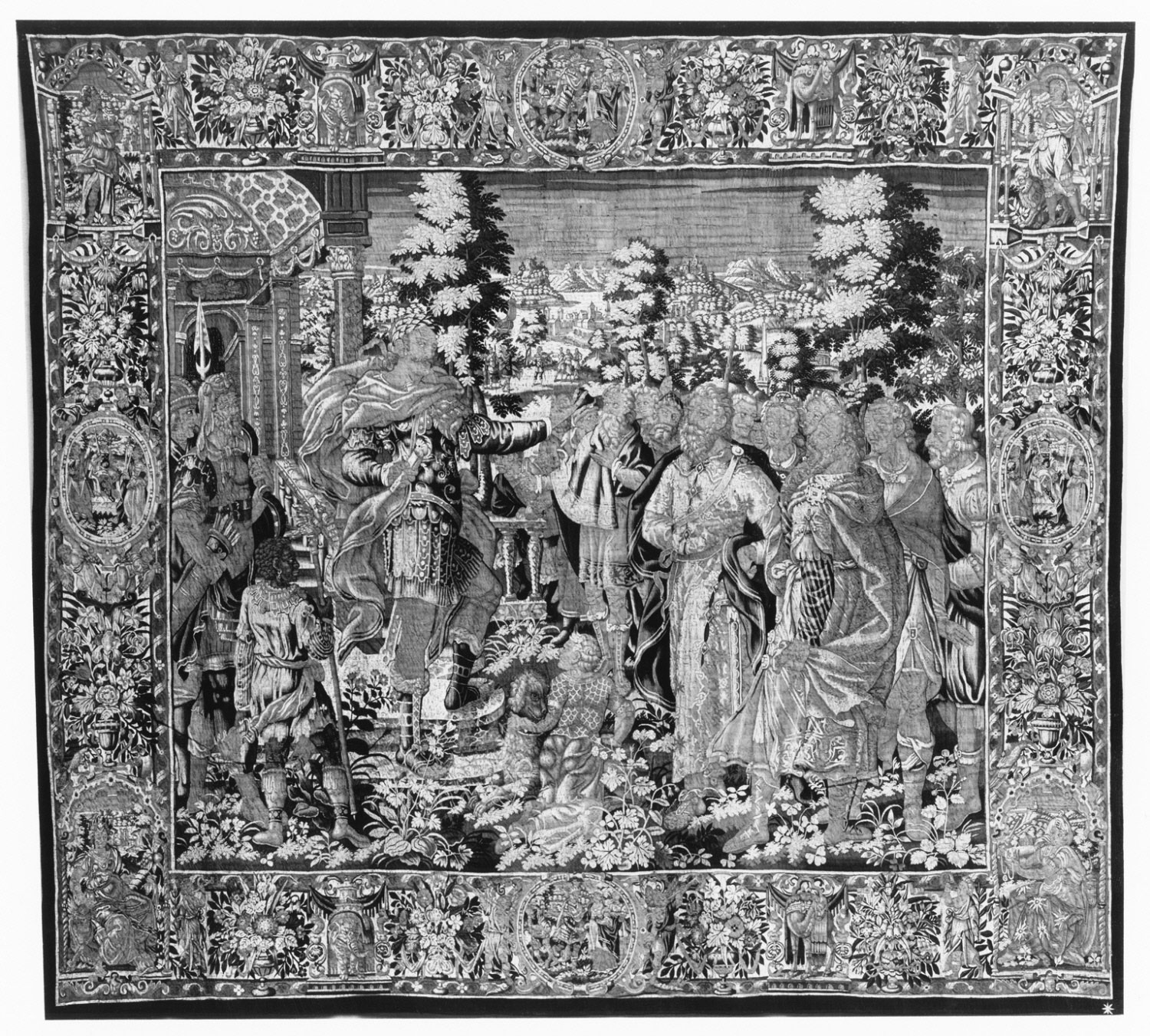 Tapestry showing a Scene from Roman History, perhaps from the Life of the General Scipio?