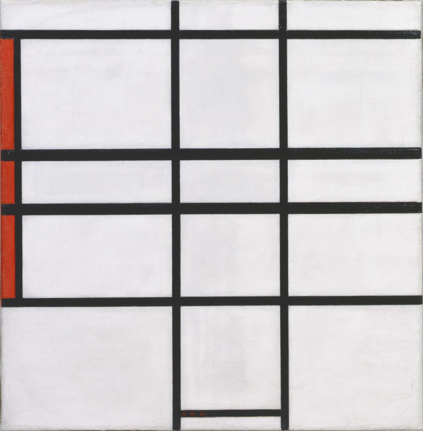 Composition with White and Red