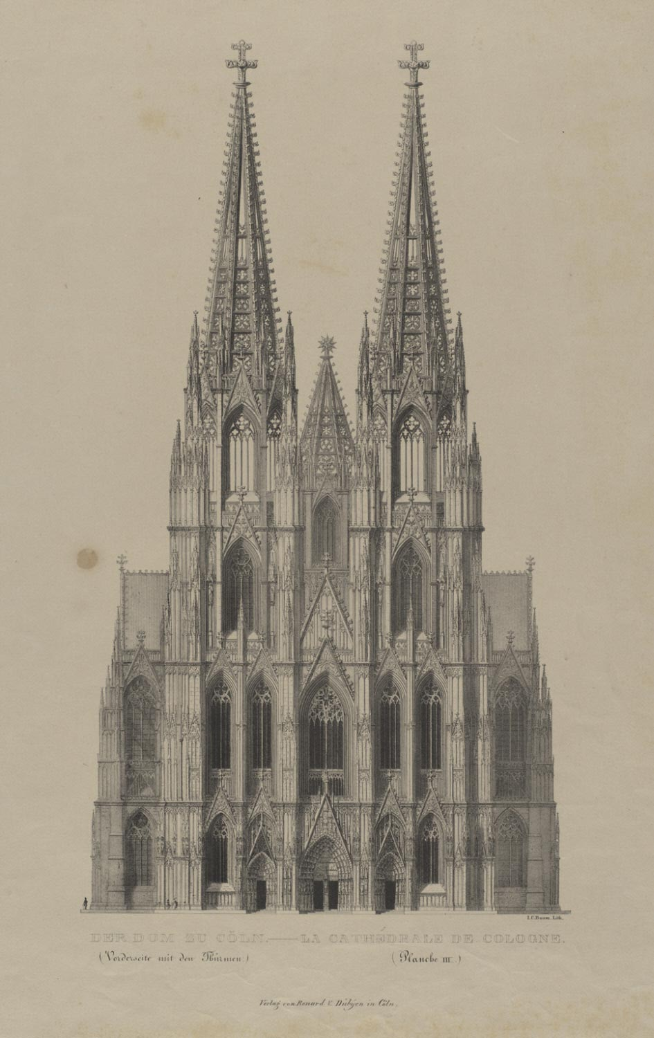 Cologne Cathedral (Front Elevation with the Spires)