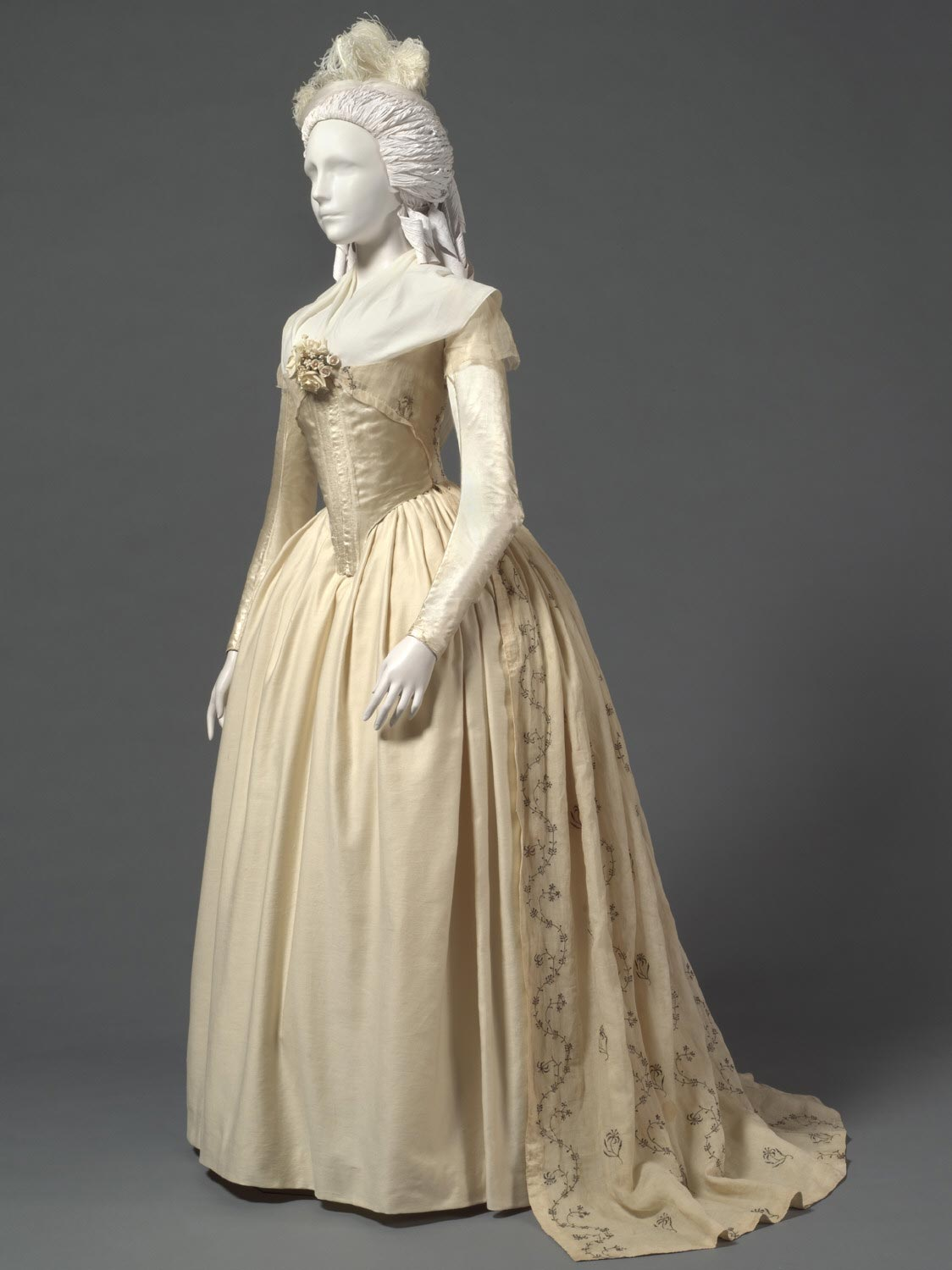 Woman's Dress (Robe à l'anglaise) with Zone Front