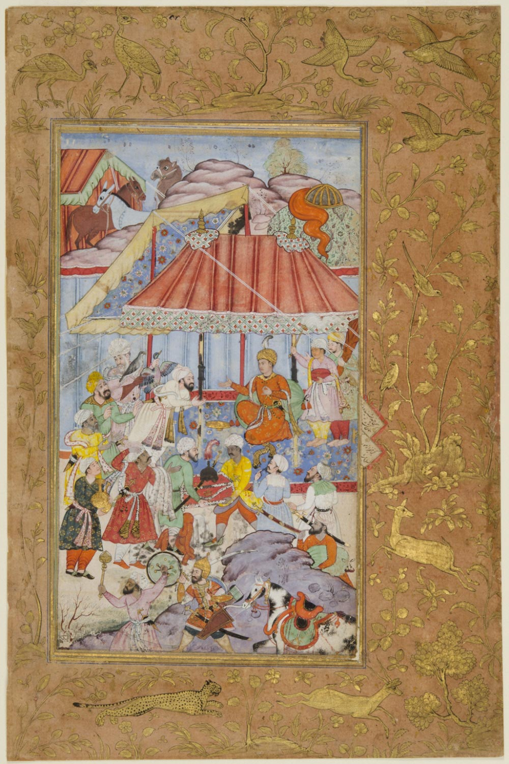 Distribution of Gifts by Emperor Babur, Encamped in Begram