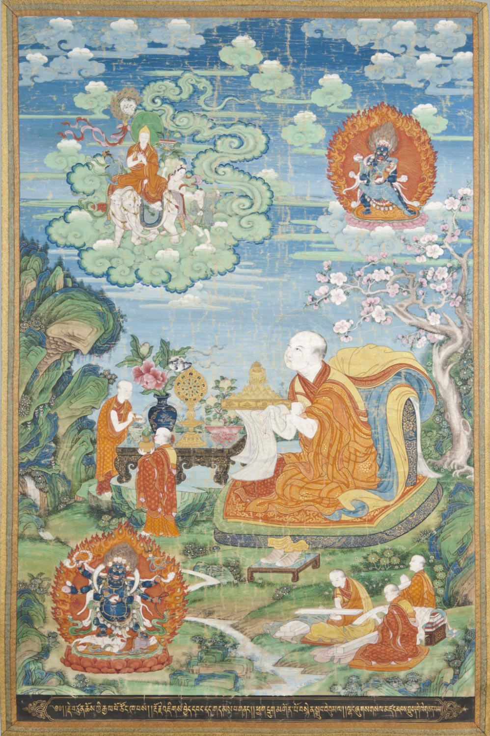 Khedrubje Makes an Offering to Tsongkhapa