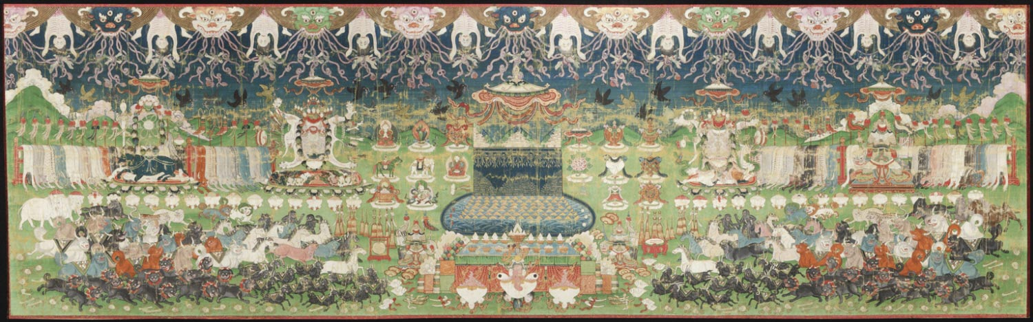Banquet for Four Dharmapalas with Mount Meru