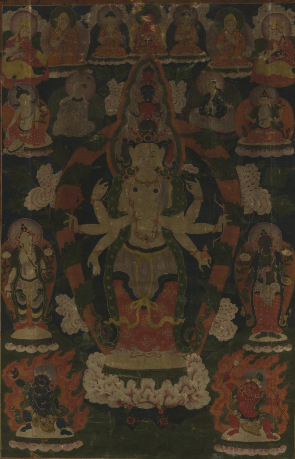 Ekadasa-Avalokiteshvara Surrounded by Forms of Avalokiteshvara