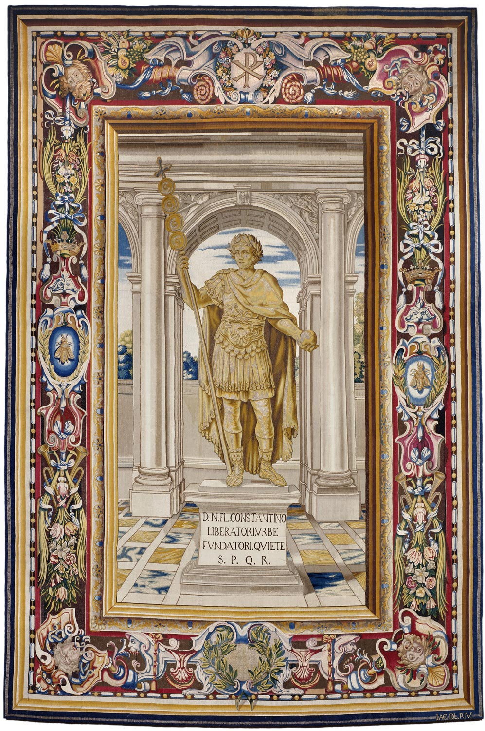 Tapestry showing the Statue of Constantine