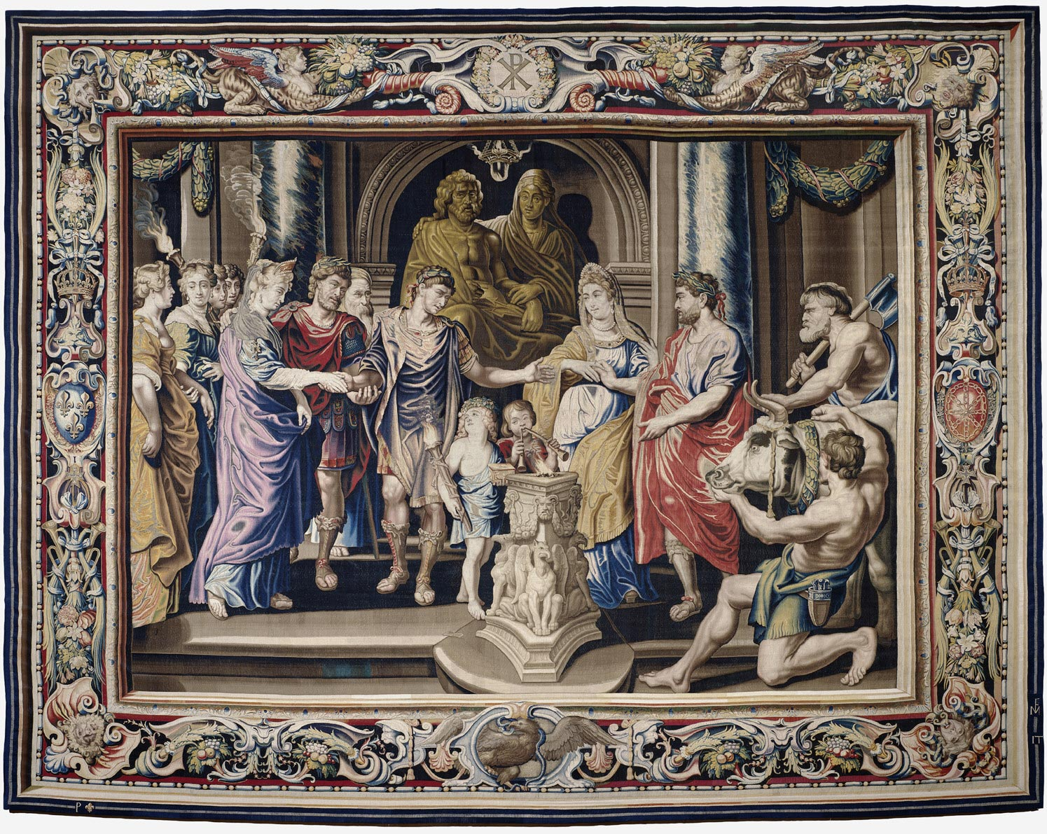 Tapestry showing the Marriage of Constantine and Fausta