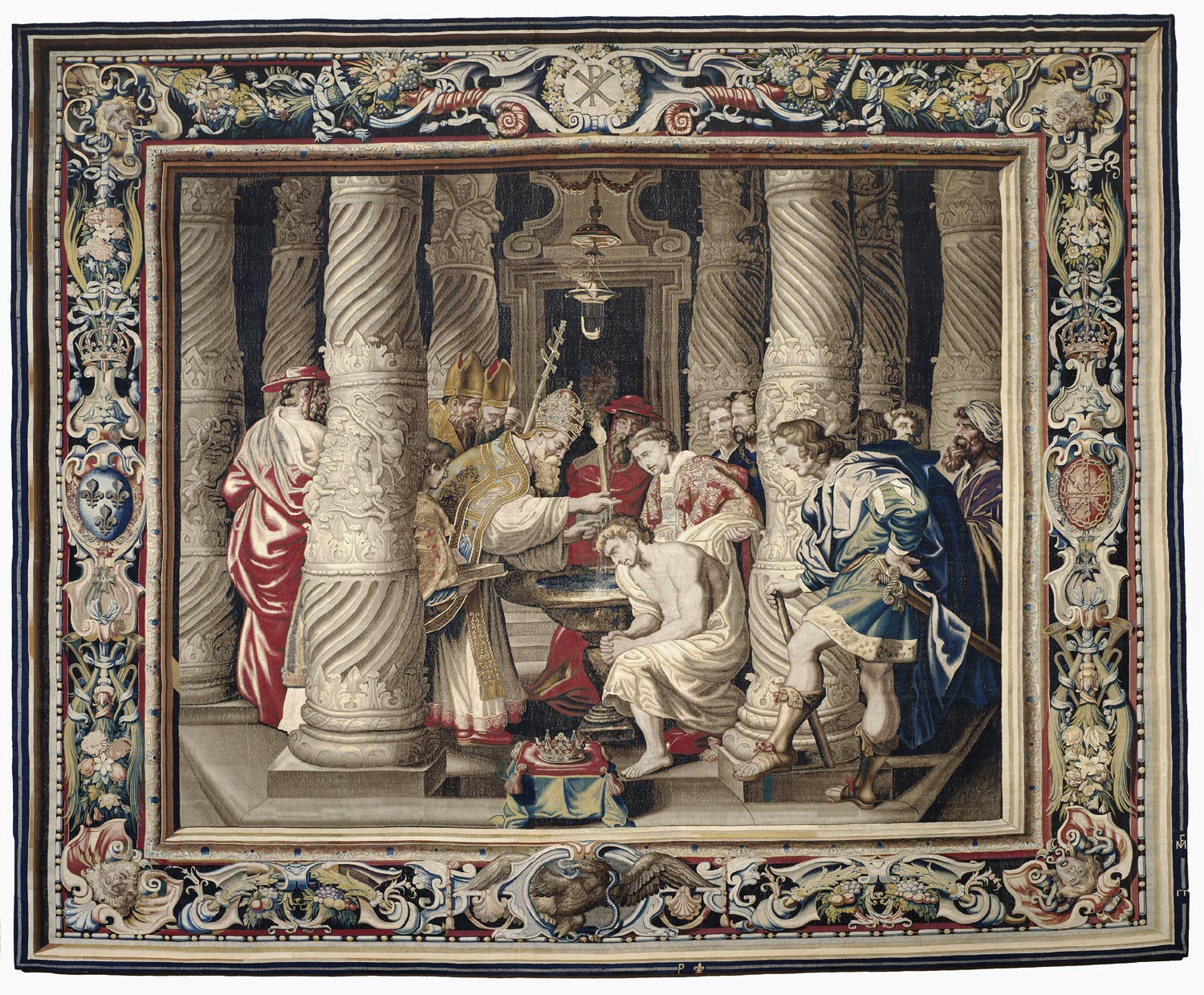 Tapestry showing the Baptism of Constantine