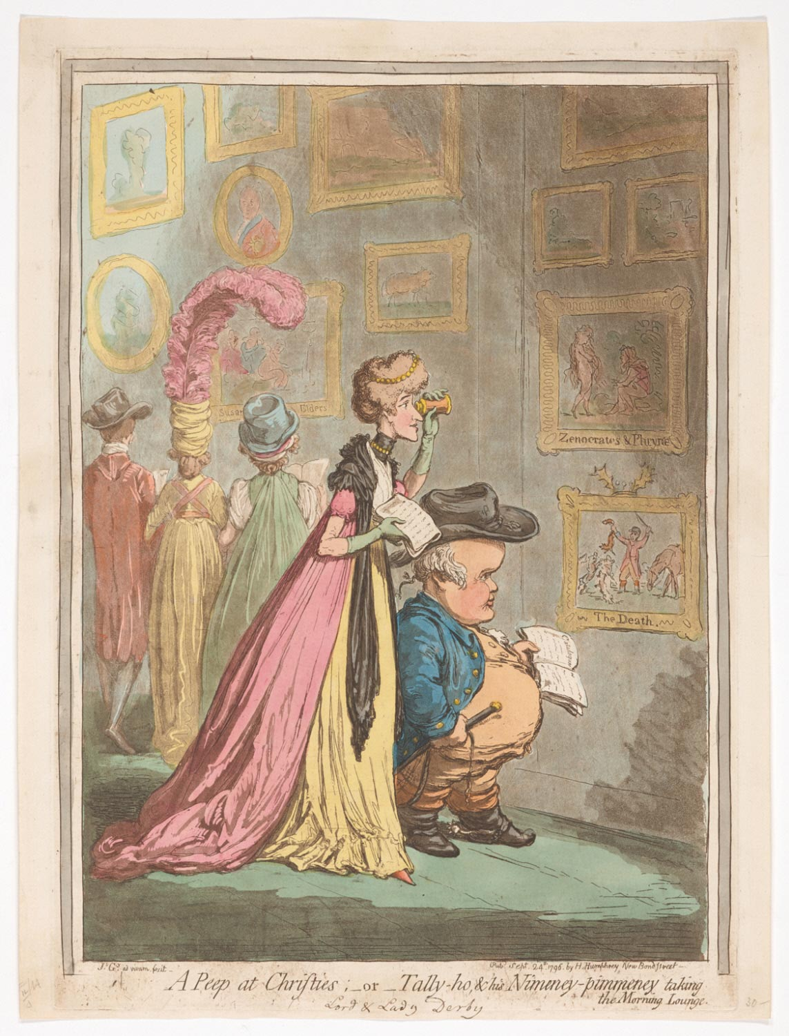 A Peep at Christies;–or–Tally-ho & His Nimeny-pimeney taking the Morning Lounge