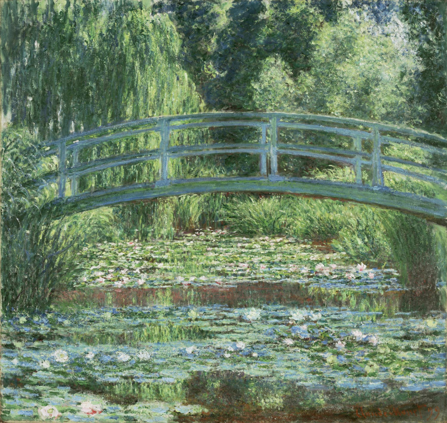 Japanese Footbridge and the Water Lily Pool, Giverny