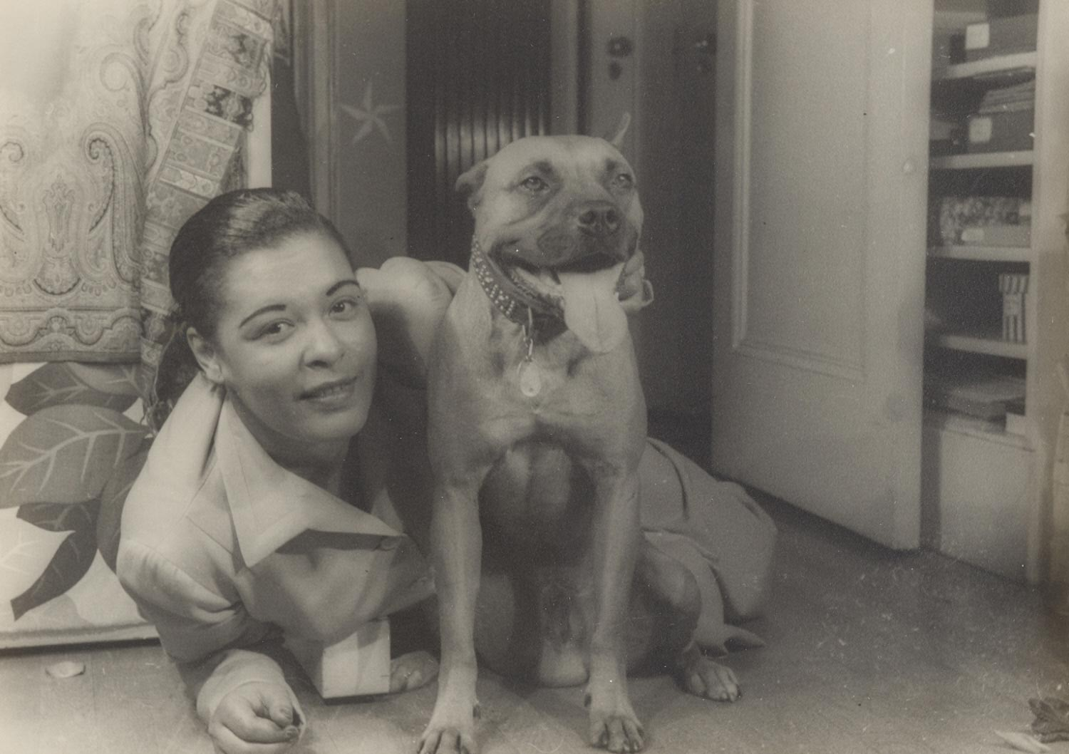 Billie Holiday with Her Dog, Mister