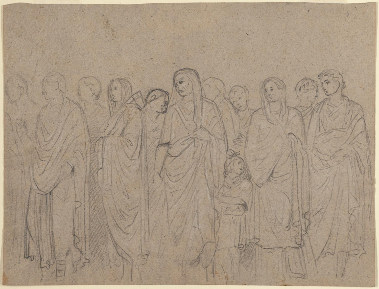 A Procession of Romans after the Ara Pacis
