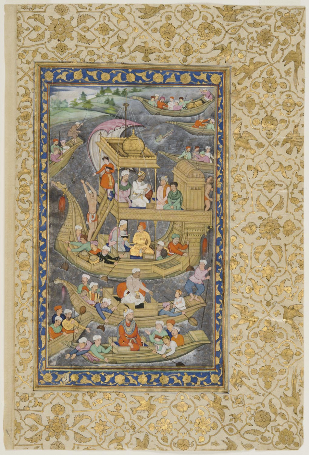 Akbar's Expedition by Boat to the Eastern Provinces