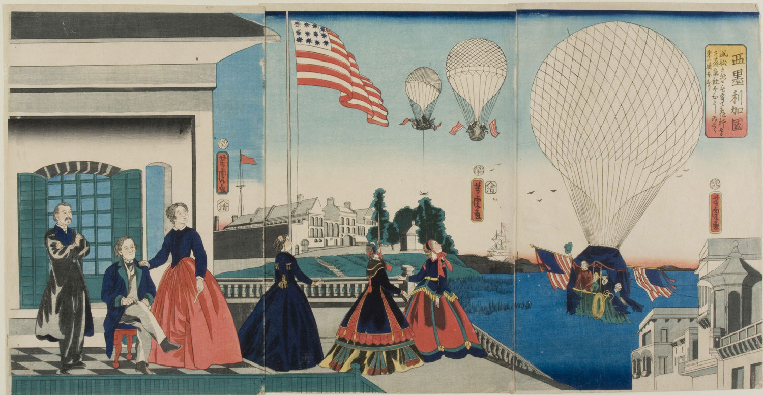The Country of America (People Watching Hot Air Balloons)