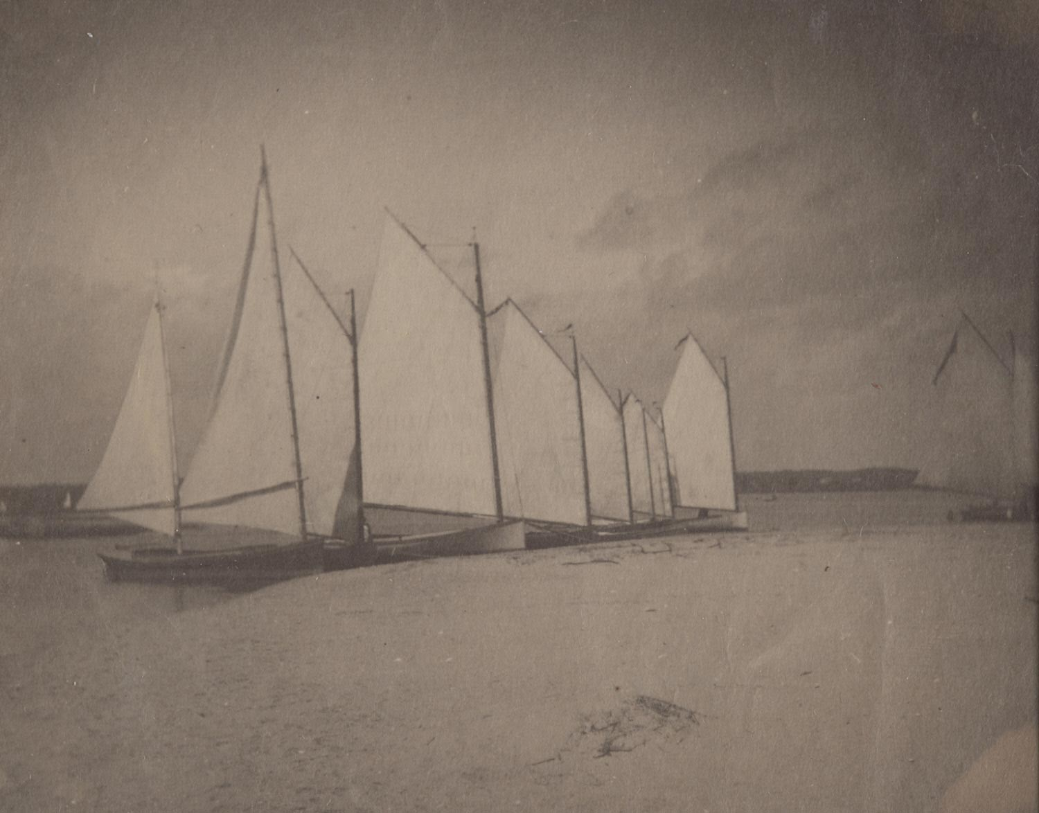 Sailboats on the New Jersey Shore
