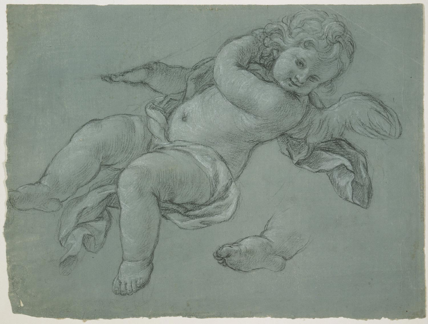 Putto Supporting an Unidentified Object: Study for the Tomb of Maria Clementina Sobieska Stuart