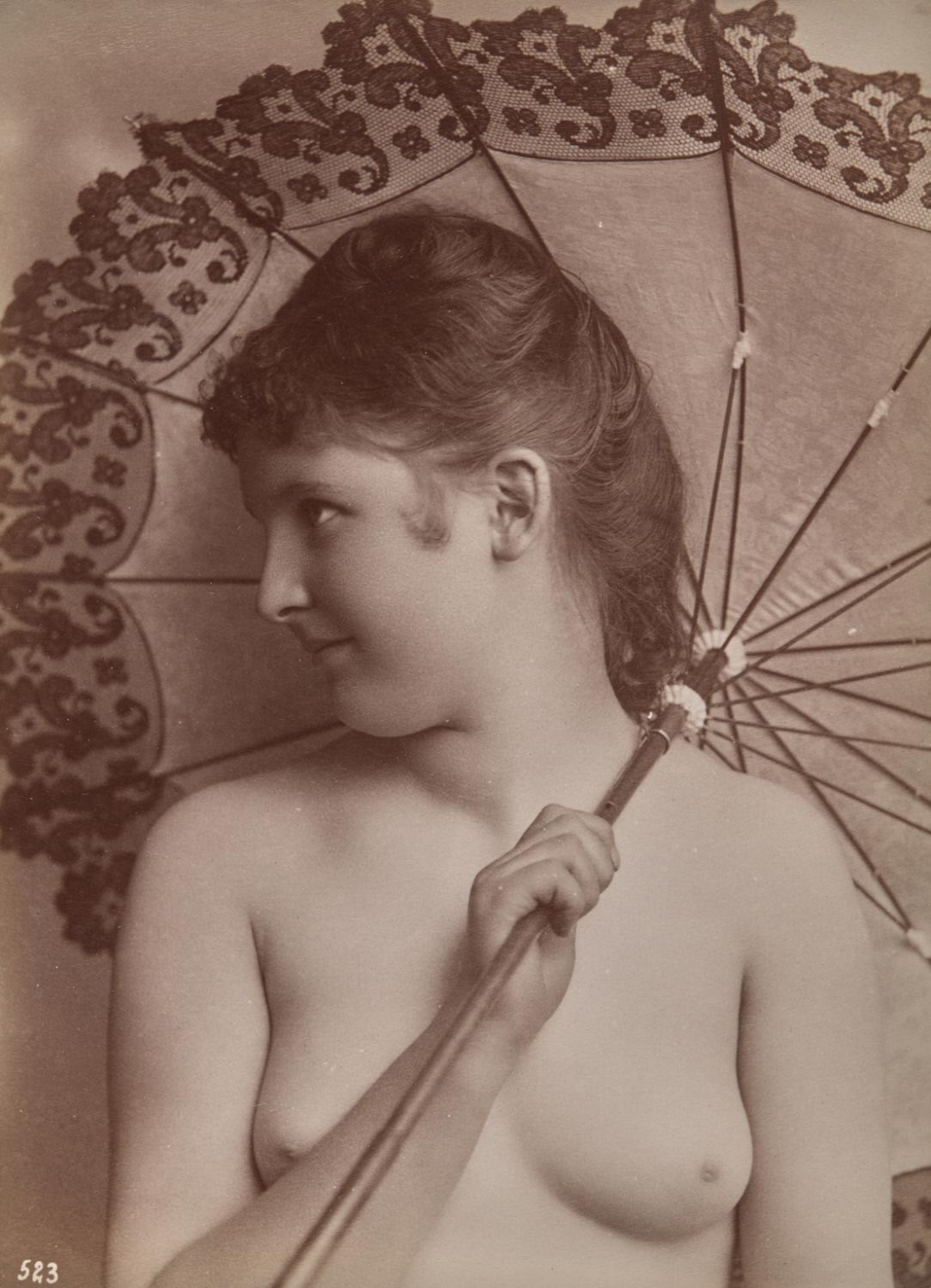 Nude Woman Holding a Parasol
