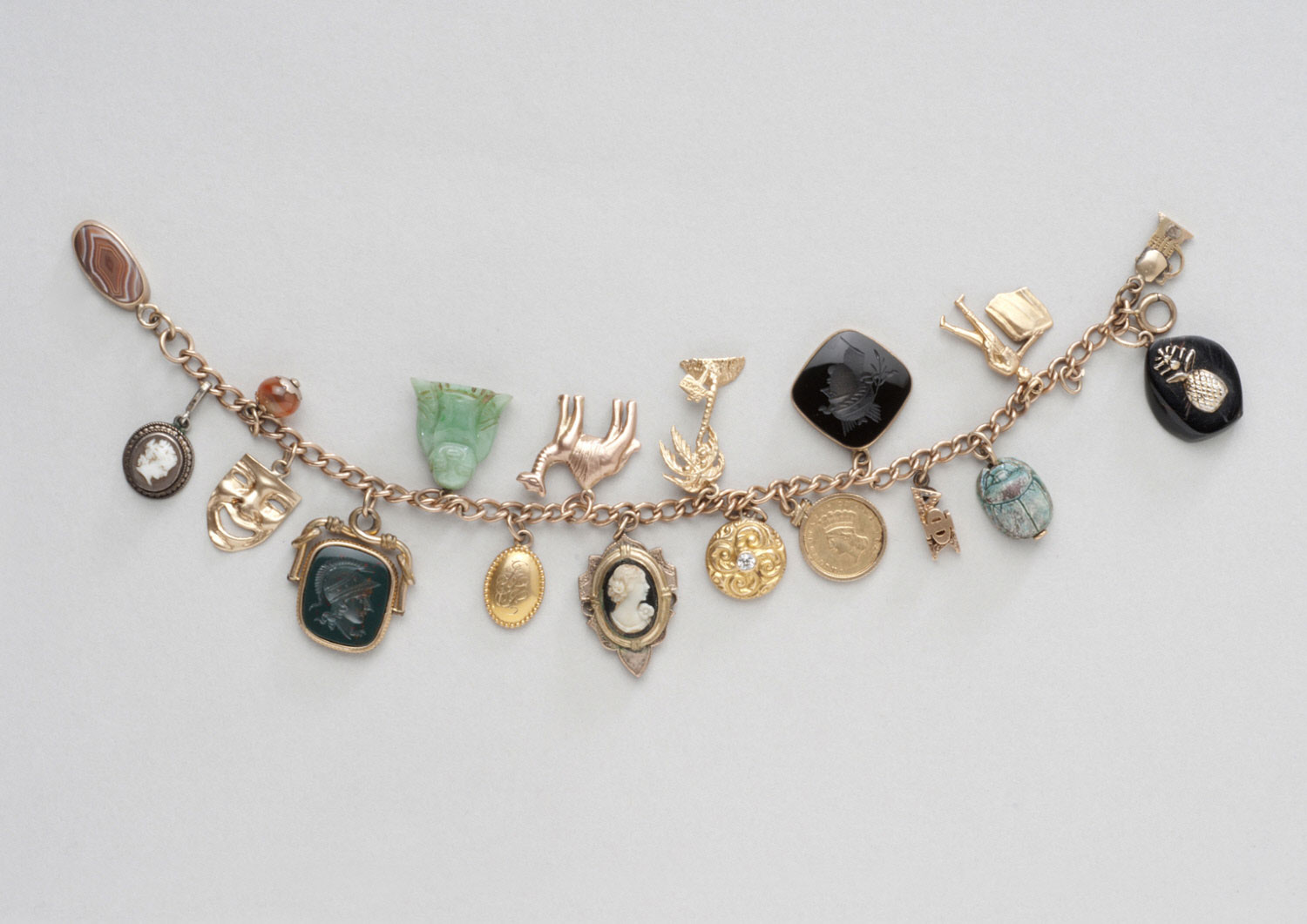 Bracelet with Cameo Charms