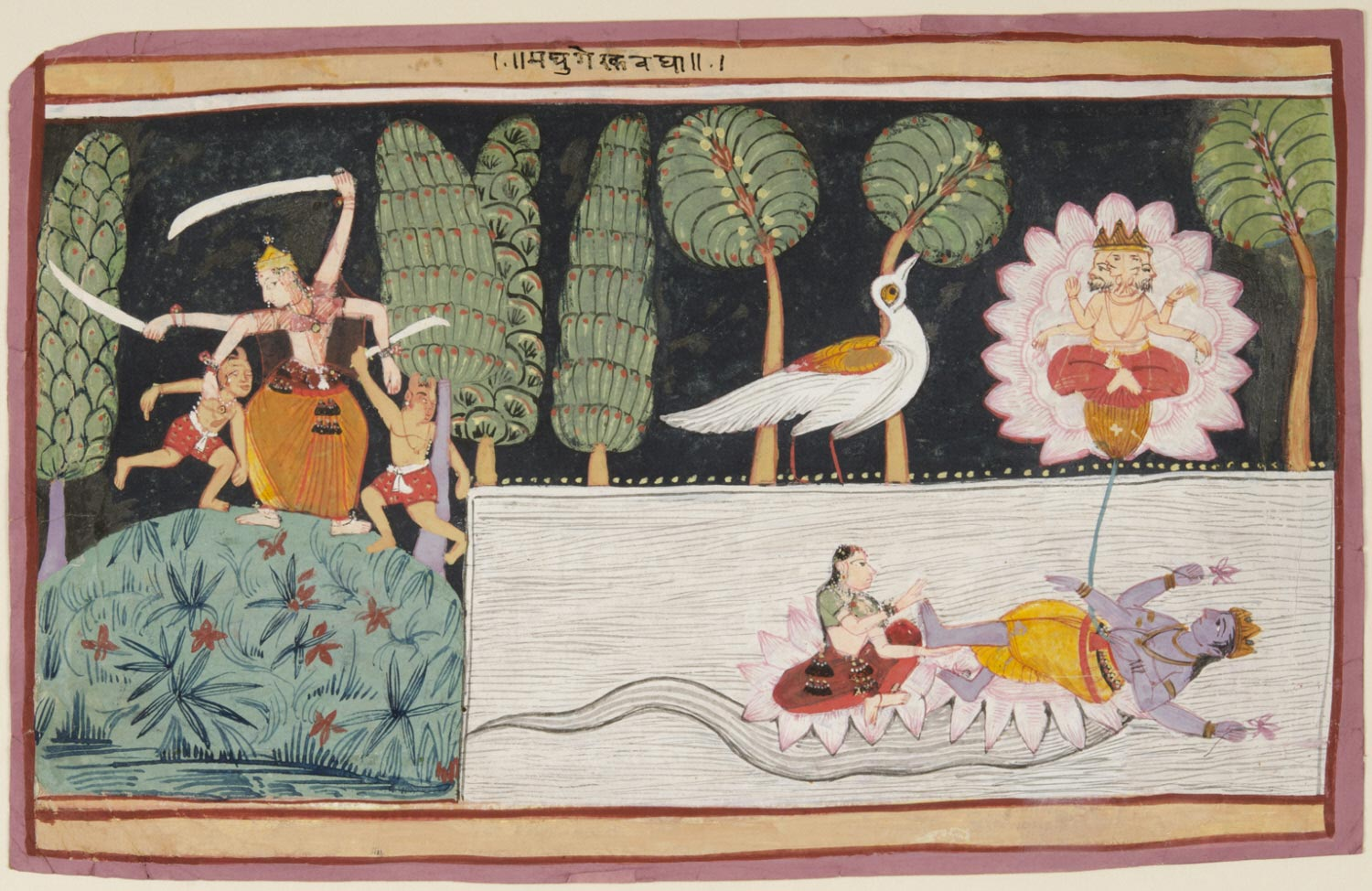 Defeat of the Demons Madhu and Kaitabha