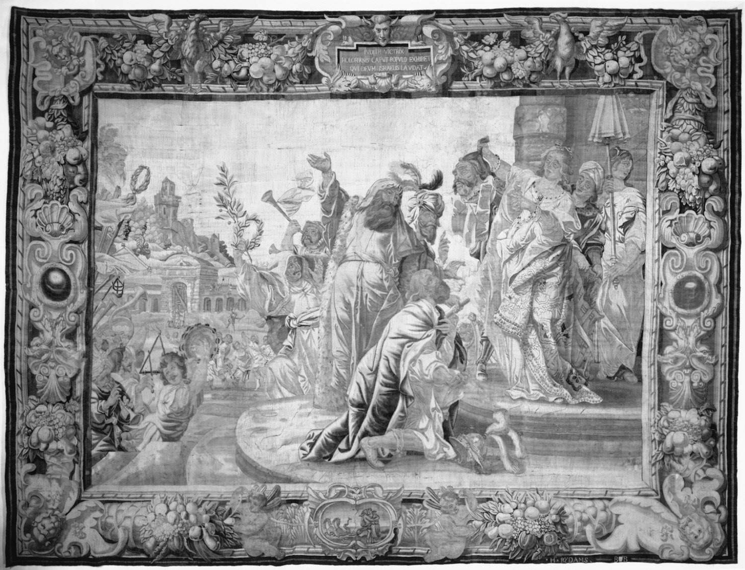 Tapestry showing Judith Displaying the Head of Holofernes to the People of Israel