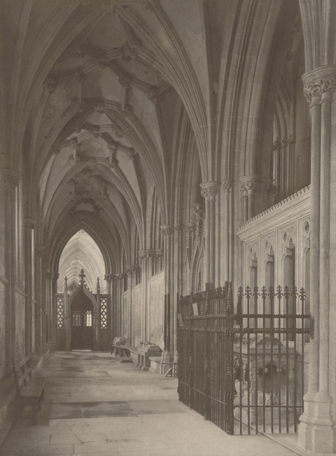 Wells Cathedral: South Choir Aisle to West