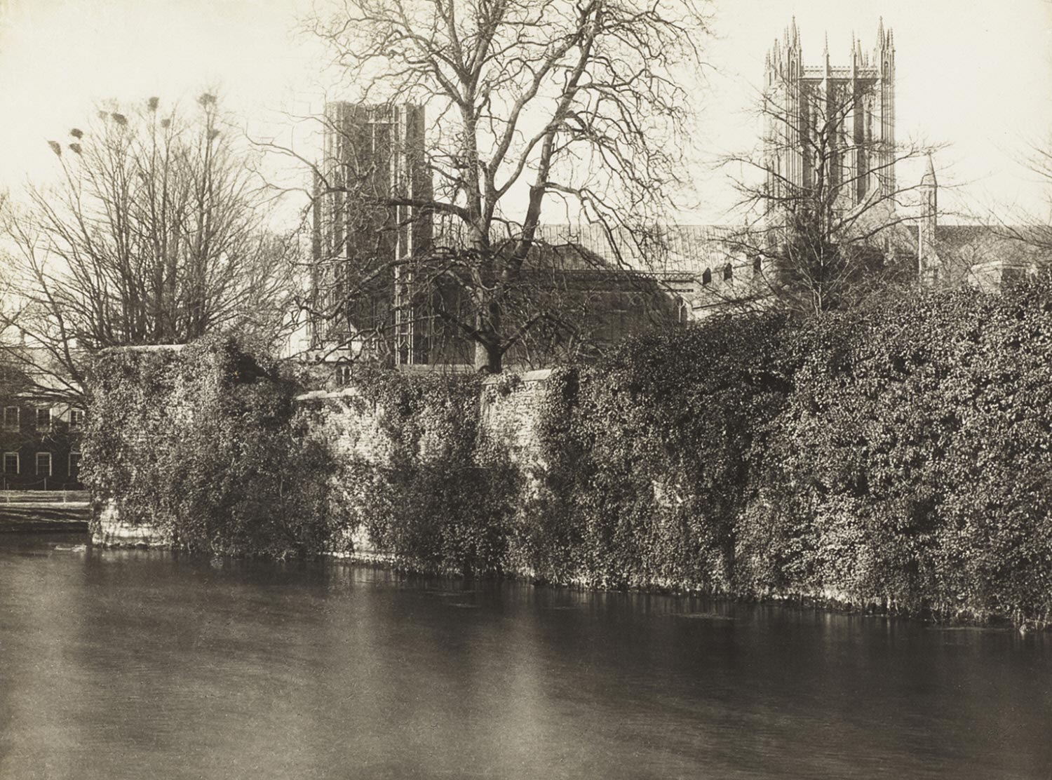 Wells Cathedral: From the Moat