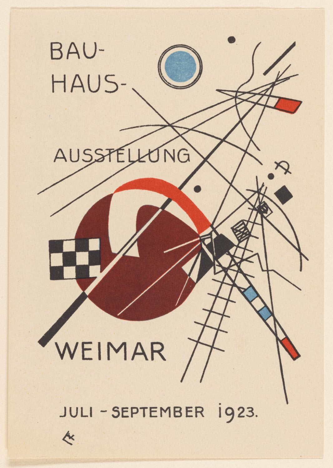 Postcard No. 3 for the Bauhaus Exhibition, Weimar, July-September 1923