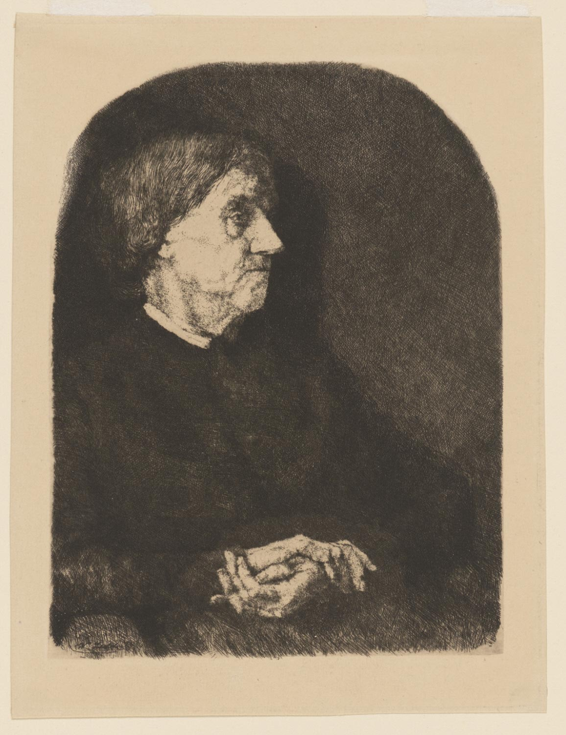 Portrait of an Old Lady Facing Right