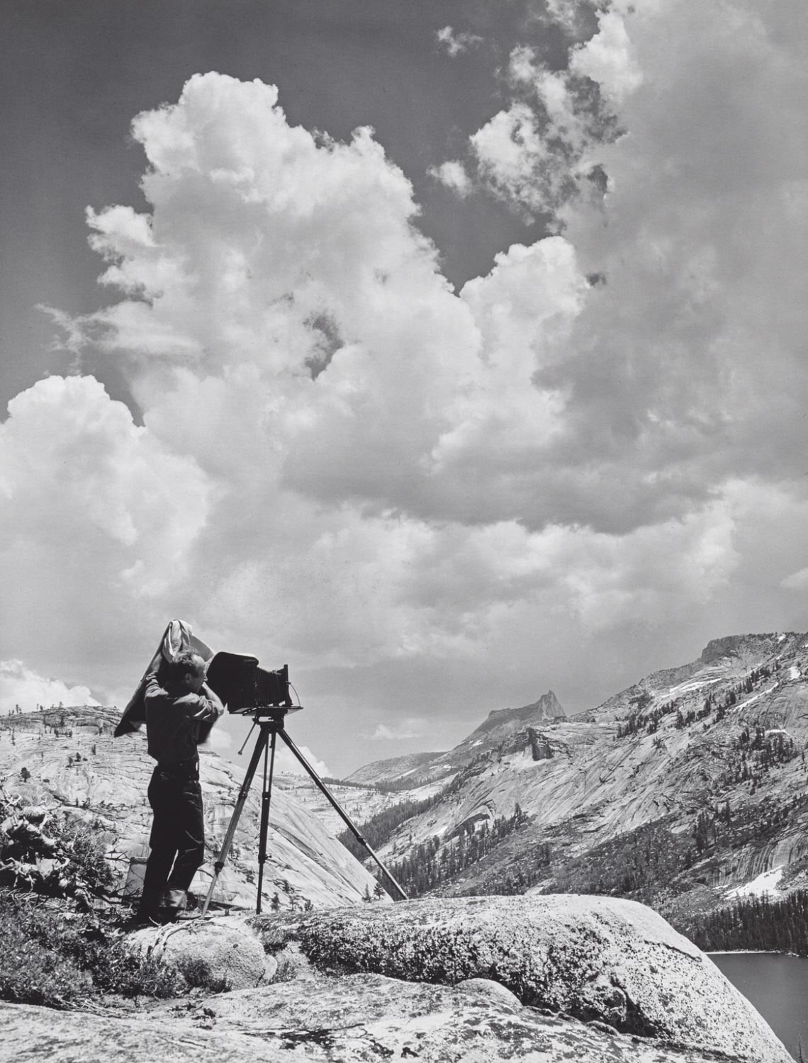 Edward Weston at Tehaya Lake, Yosemite National Park