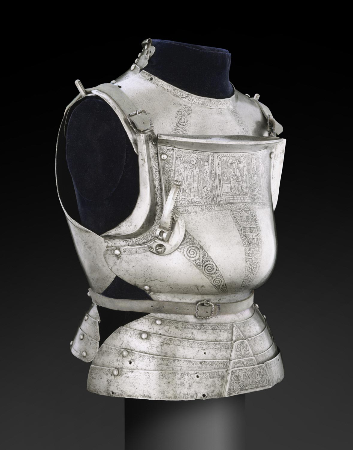 Gorget (neck defense) and Cuirass (torso defense), for use in the field