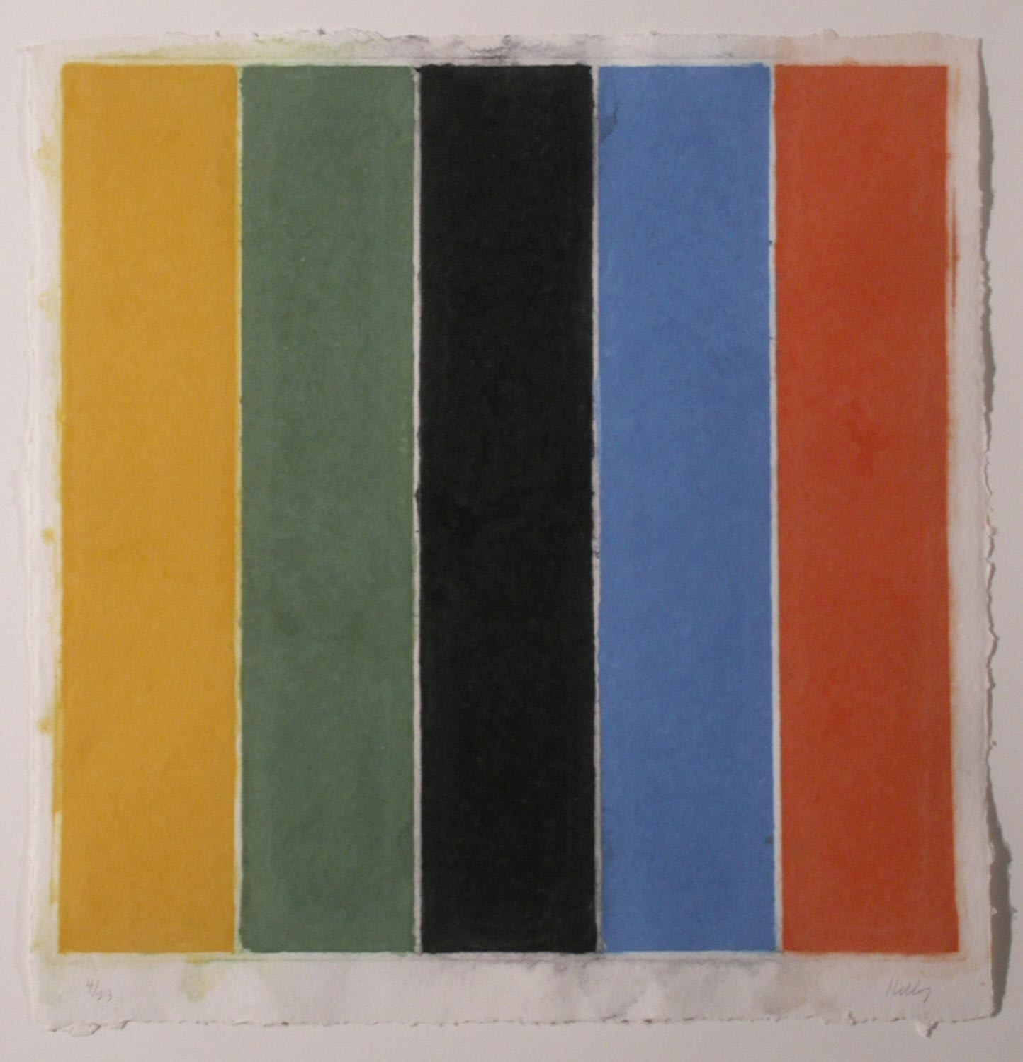 Colored Paper Images XIII (Yellow/Green/Black/Blue/Orange)