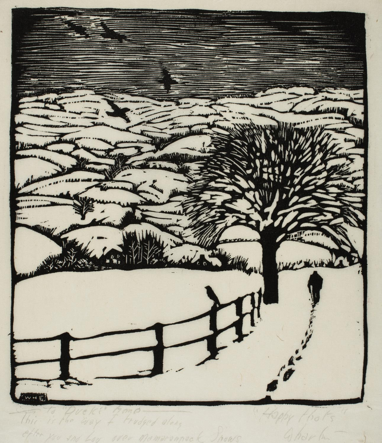 Trudging in the Snow (January)