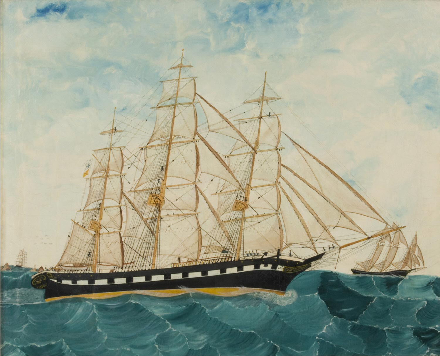 Full-Rigged Clipper Ships