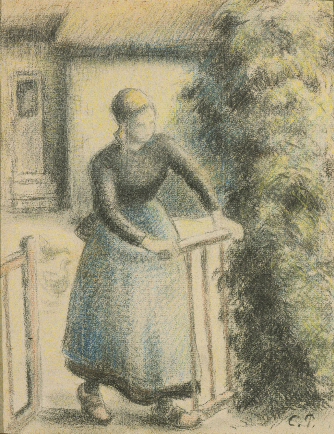 Peasant Woman at Gate