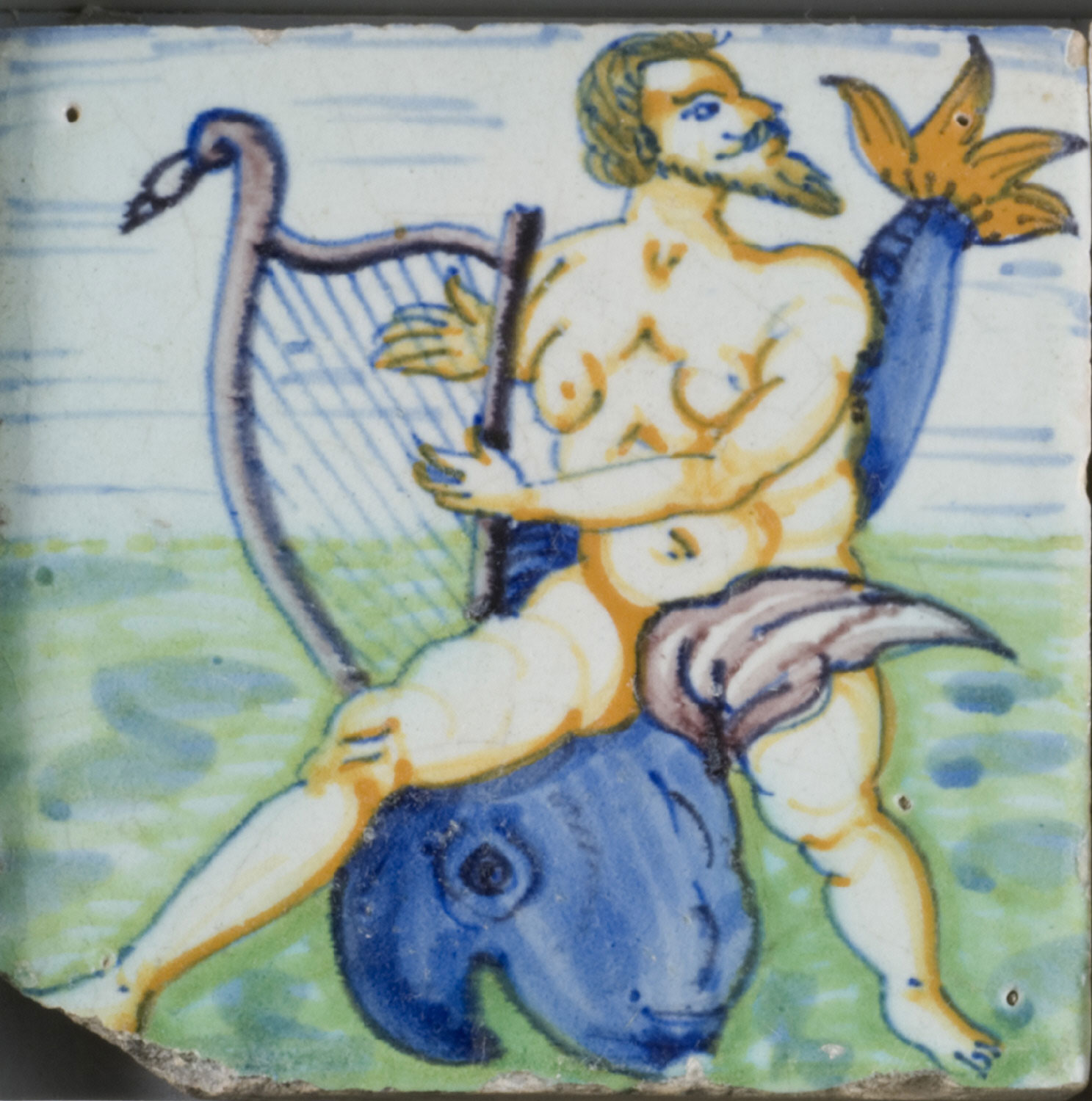 Tile: Arion Playing the Lyre