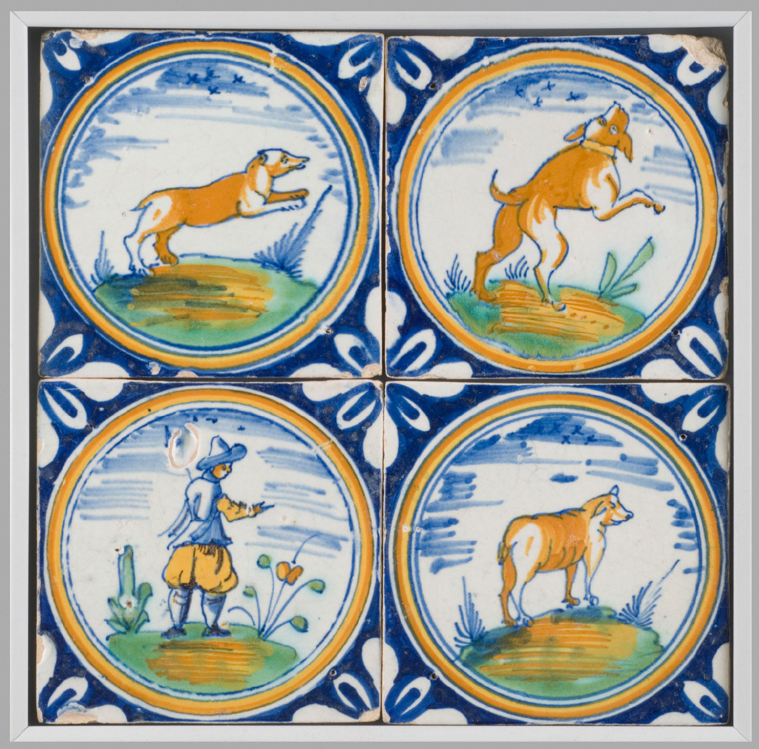 Animals and Hunter in Roundels